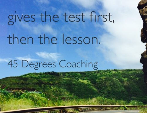 What Lesson Did You Learn This Week?